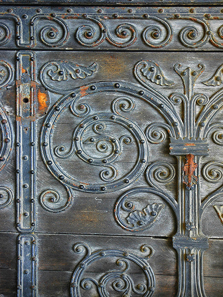 Ornate Metal Door Photography Backdrop / 051 - DropPlace