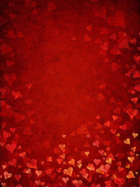 Floating Hearts Photography Backdrop / 060 - DropPlace