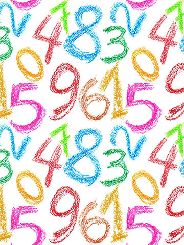 Crayon Numbers Photo Background / 094 - DropPlace
