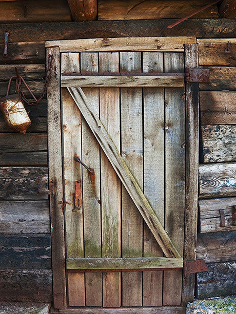 Cabin Door Printed Photography Backdrop / 1012 - DropPlace