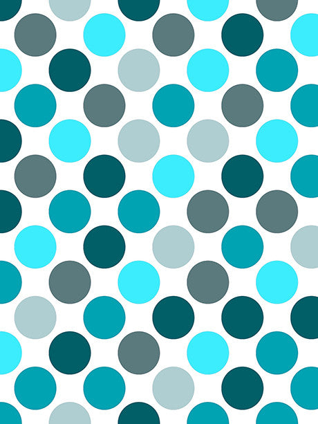 Shades of Teal Polka Dots Photo Background / 1221 - DropPlace
