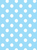 White Polka Dots on Blue Photo Backdrop / 1329