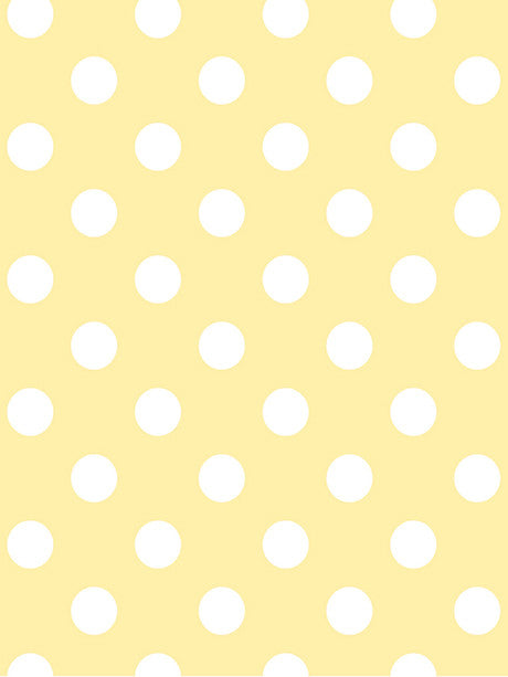 White Polka Dots on Yellow Photography Background / 1330 - DropPlace