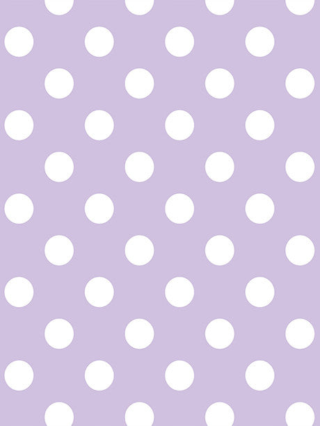 White Polka Dots on Lavender Printed Photography Backdrop / 1331