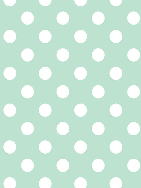 White Polka Dots on Mint Photography Backdrop / 1332
