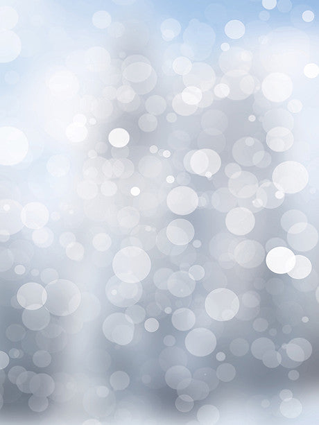 Light Blue Gray Bokeh Printed Photo Background / 1441
