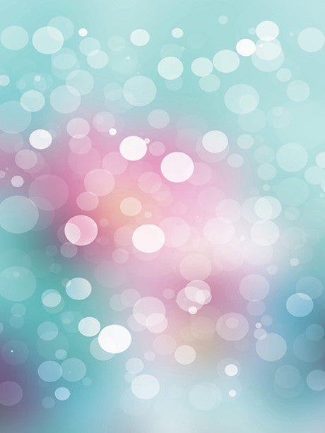 Teal and Pink Bokeh Photography Backdrop / 1448