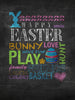 Easter Chalkboard Type Printed Photography Background / 1485 - DropPlace