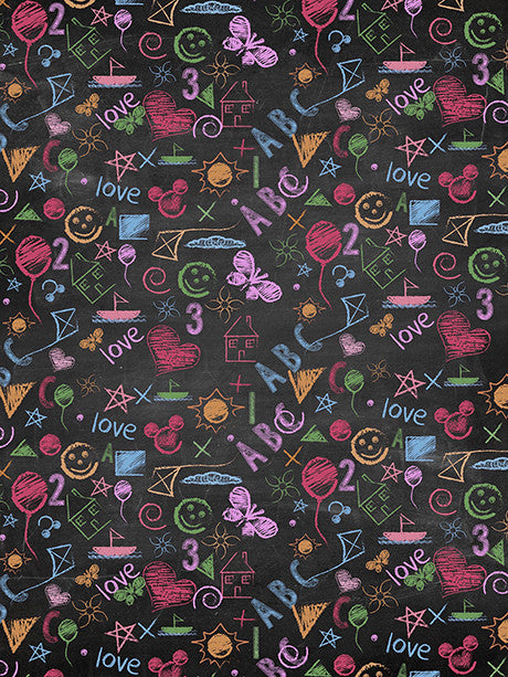 School Chalkboard Photography Background / 1486