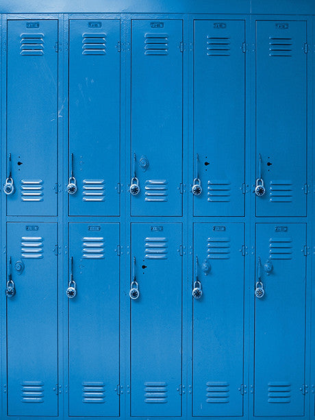 Blue Lockers Photo Backdrop / 1500 - DropPlace