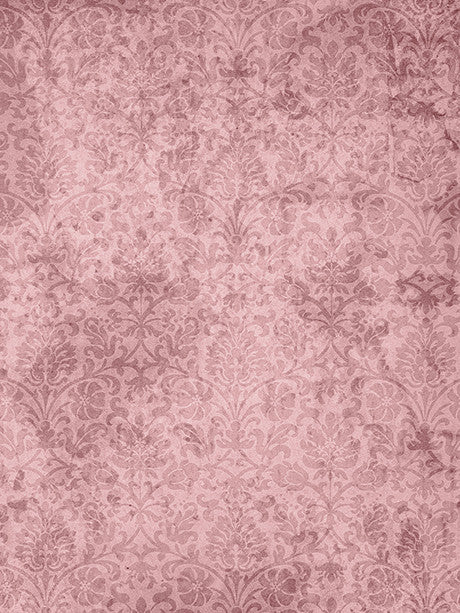 Grunge Flourish Pink Photography Backdrop / 1506