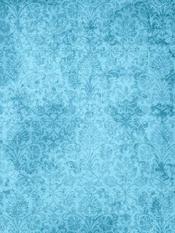 Grunge Flourish Blue Photo Backdrop / 1507 - DropPlace
