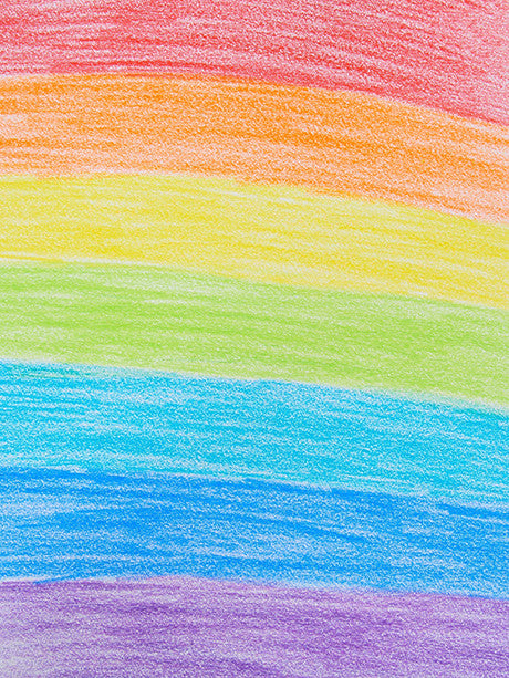 Crayon Rainbow Photography Background / 1878 - DropPlace