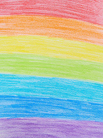 Colored Rainbow Crayon Backdrop Printed Photography Backdrop / 1878 - DropPlace
