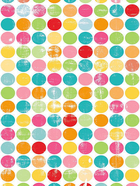 Scratchy Colored Dots Photo Backdrop / 1952 - DropPlace