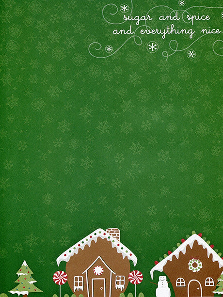 Gingerbread Neighbors Printed Photography Background / 2088
