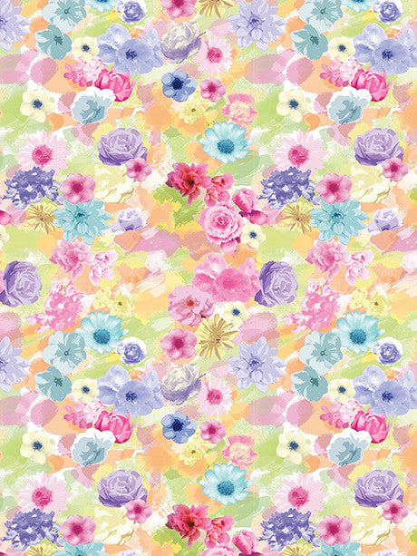 Watercolor Flowers Printed Photo Background / 2157