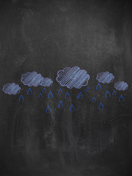 Chalkboard Rain Printed Photo Backdrop / 2230 - DropPlace
