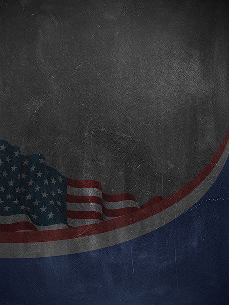 Chalkboard Flag Photography Backdrop / 2232 - DropPlace