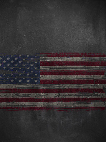 Flag Chalkboard Printed Photo Background / 2234 - DropPlace