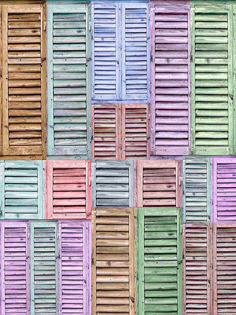 Crayon Shutters Printed Photo Backdrop / 2276 - DropPlace