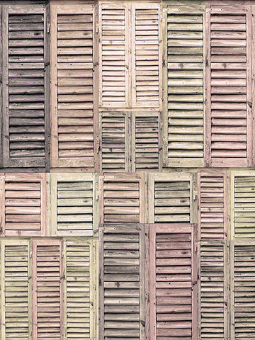 Vintage Pastel Shutters Printed Photo Background / 2277 - DropPlace