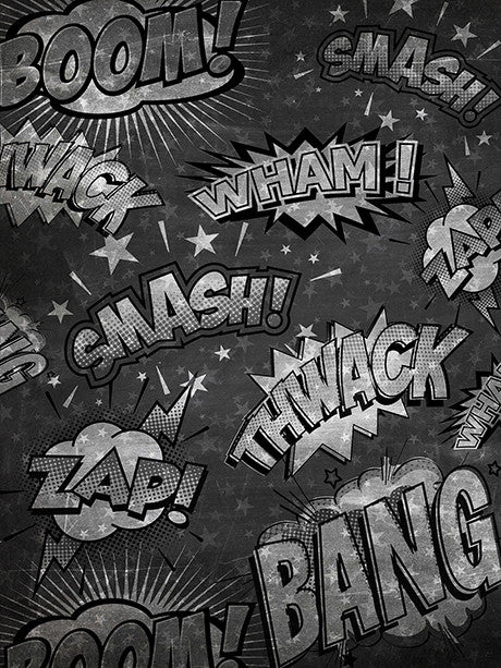 Chalkboard Super Hero Backdrop Printed Photo Background / 2368 - DropPlace
