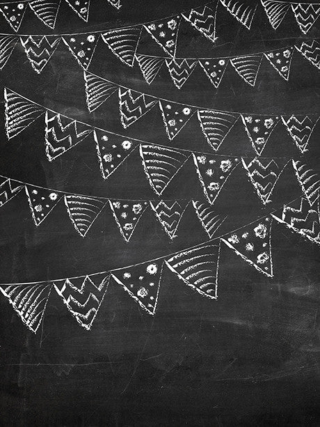 Flags on Chalkboard Printed Photography Background / 2369