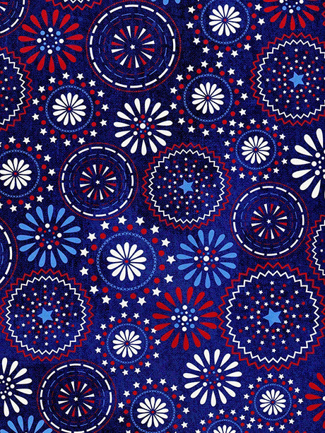 Fireworks Circle Printed Photography Backdrop / 2391