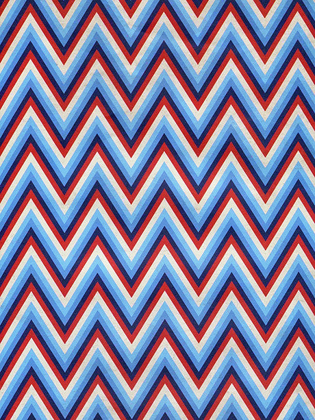 Patriotic Chevron Printed Photography Background / 2393