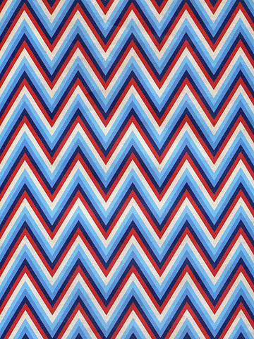 Patriotic Chevron Printed Photography Background / 2393 - DropPlace