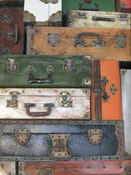 Vintage Luggage Photography Backdrop / 2427 - DropPlace