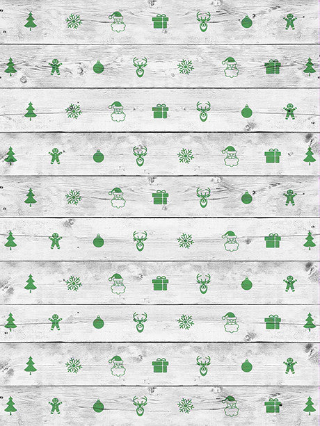 Green Xmas Floor Printed Photography Background / 2590