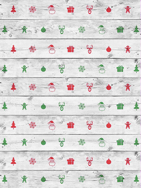 Christmas Panels Photo Backdrop / 2591 - DropPlace