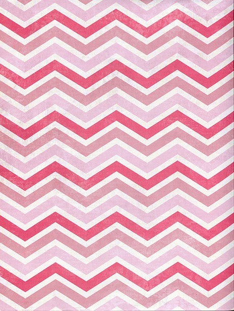 Shades of Pink Chevron Photography Backdrop / 2632