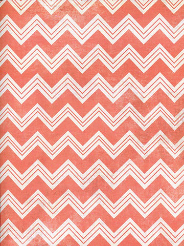 Coral Chevron Photo Background / 2638 - DropPlace