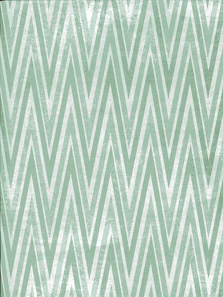 Green Sharp Chevron Printed Photography Backdrop / 2645