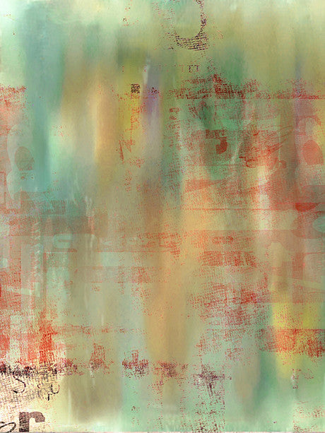 Green and Orange Watercolor Abstract Backdrop Photography Background / 2737 - DropPlace