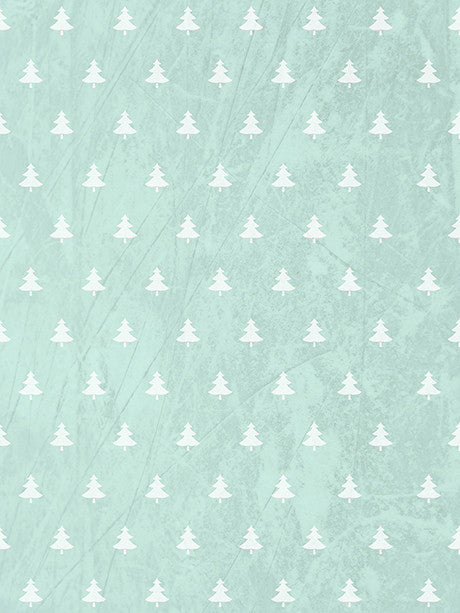 Minty Trees Printed Photography Backdrop / 3126