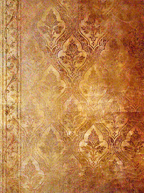 Rust and Damask Printed Photography Background / 323 - DropPlace