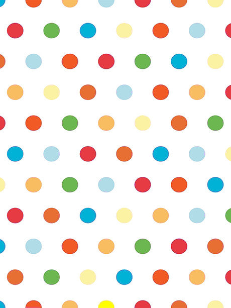 Bright Polka Dots Printed Photography Background / 442 - DropPlace