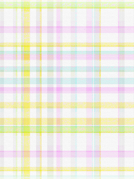 Pastel Plaid Photography Backdrop / 584