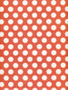 White Polka Dots on Orange Photo Background / 8025