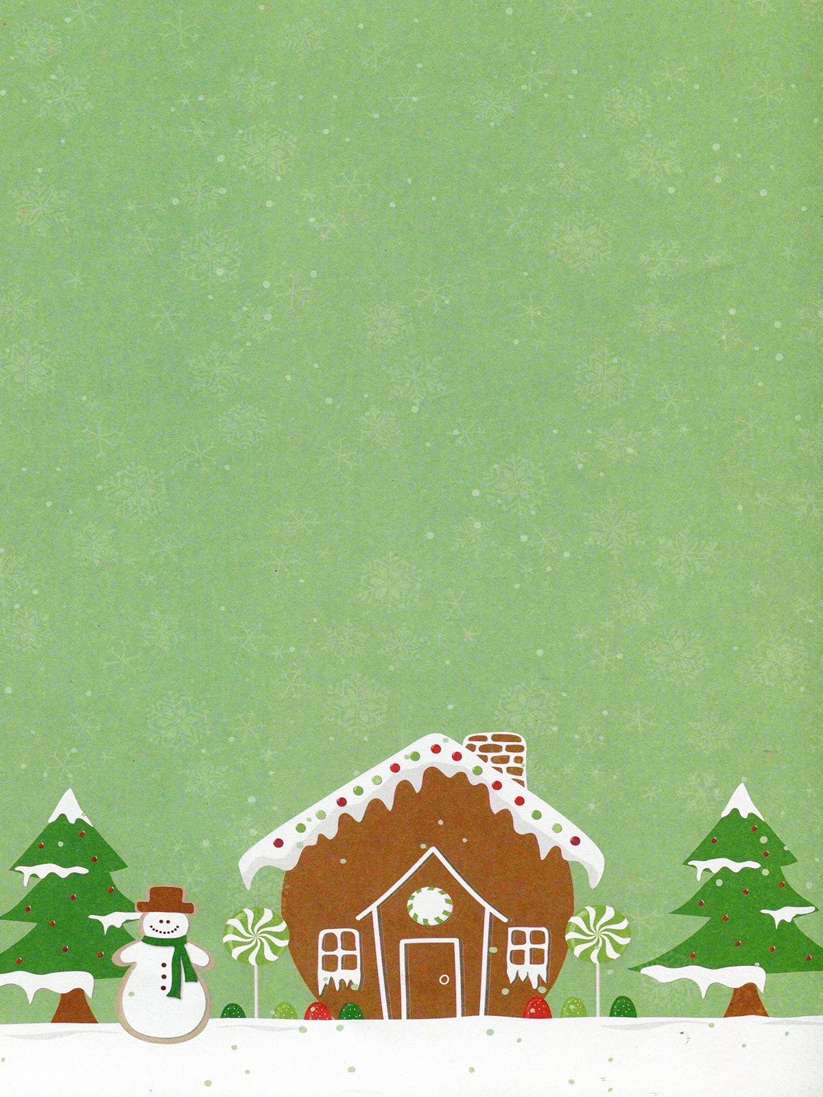 Gingerbread Cottage Printed Photo Background / 8126