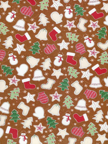 Gingerbread Pattern Printed Photography Backdrop / 8128 - DropPlace