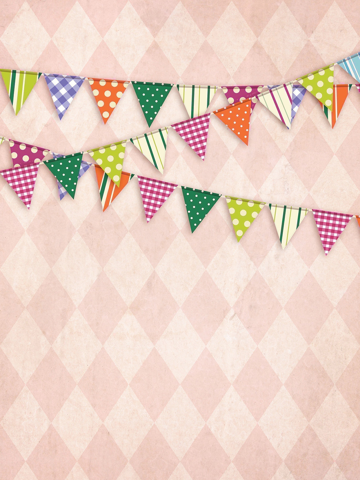 Diamond Party Pink Printed Photo Backdrop / 9081 - DropPlace