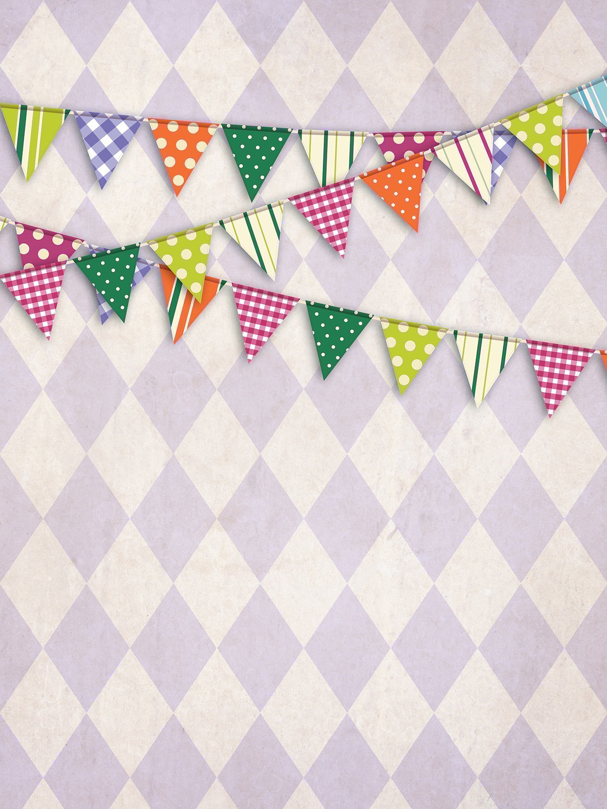 Diamond Party Purple Printed Photo Background / 9082 - DropPlace
