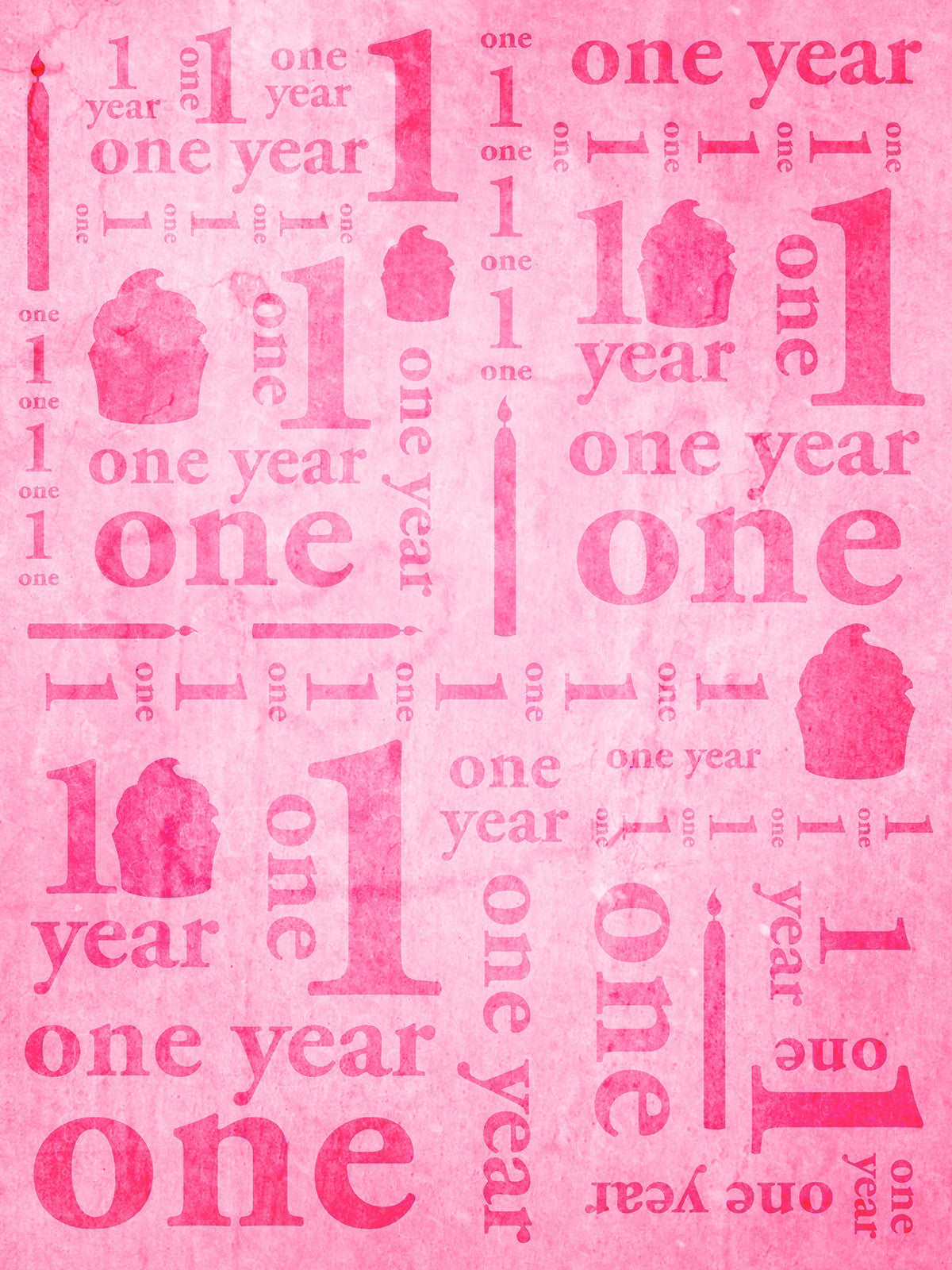 First Birthday Pink Photography Background / 9144