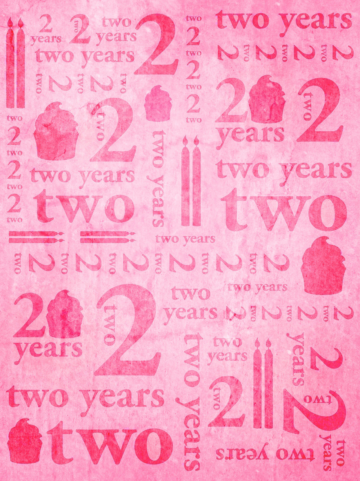 Second Birthday Pink Printed Photo Background / 9153 - DropPlace