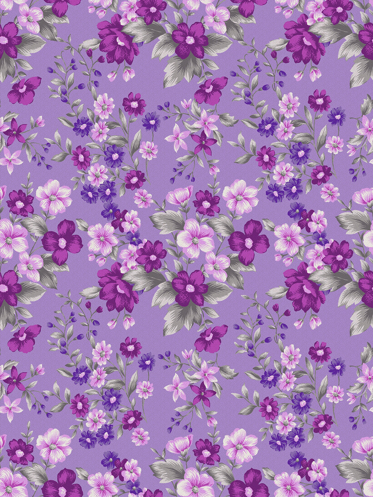 Violet Floral Printed Photo Background / 946 - DropPlace